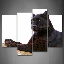 black panther animal wall art