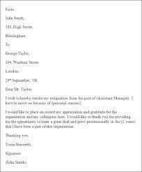 letter format 2 week notice letter format 2 week notice letter word format of resignation format for resignation letter