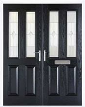 black double front doors. Ash Double Composite Doors Black Front