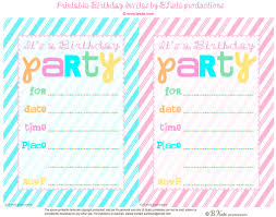 Personal Invitations Birthday Free Printable Birthday Party Invitations With Photo Download Them