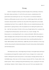 the reniassance the occupy wall street protests essay julia li essay dozens of people are being