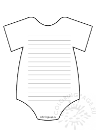 Onesie Template Baby Shower Invitations Baby Onesie Template Coloring Page