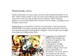 graphics a personal study a level art design marked by  document image preview