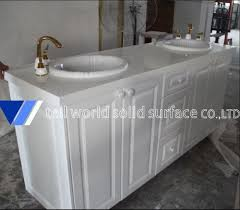 tellworld acrylic solid surface vanity tops artificial stone bathroom countertops