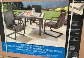 agio international 5 piece woven dining set great for entertaining and lounging around outside