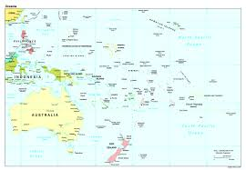 south pacific ocean political map • mapsofnet