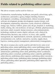 Top 8 Publishing Editor Resume Samples