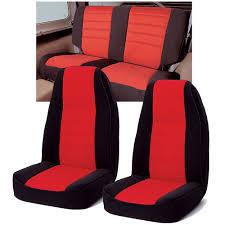 rugged ridge neoprene custom fit seat covers combo for 97 02 jeep wrangler tj quadratec