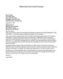 Sample Cover Letter Sales Manager General Sample Cover Letter Resume Example Marketing Example Of