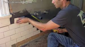 How To Install Kitchen Tile How To Install Subway Tile Youtube