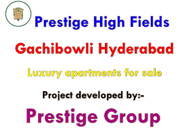 Luxury apartments in Prestige High Fields Hyderabad for sale by Prestige High  Fields Hyderabad - issuu