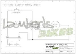 starter relay lamberts bikes 4 wire m type starter relay wiring