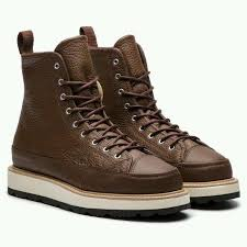 tampilkan gambar close x converse ct crafted boots brown leather