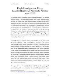 let america be america again analyse dk let america be america again analyse engelsk · analytical essay