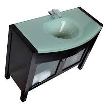 42 Bathroom Vanities 42 Modern Solid Wood Bathroom Vanity With Glass Top Espresso Ag