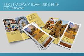 Travel Brochure Cover Design Trifold Agency Travel Brochure Psd Template