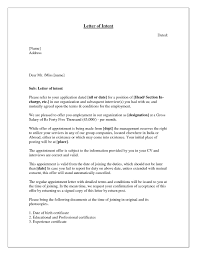 letter of intent job sample letter of intent for promotion template collection letter cover