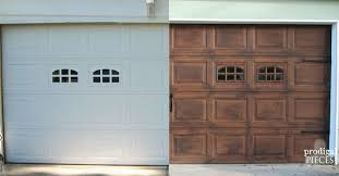 wood garage doorDIY Faux Stained Wood Garage Door Tutorial  Hometalk