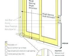 patio door sizes sliding door rough opening patio door sizes lovable patio door sizes standard patio