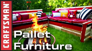 Homemade Youtube Premium Youtube How To Build Pallet Furniture For Your Patio Craftsman Youtube