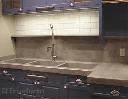 MODE CONCRETE Modern Contemporary Concrete Kitchen With Waterfall Concrete Sink Kitchen