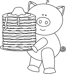 pizza party clipart black and white. Perfect Black Free Library Pig With Pancakes Clip Art Image Picture Black And White  Baking Soda Drawing At Pizza Party  Inside Party Clipart Black And White W