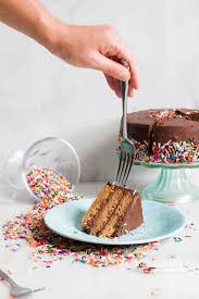 Collection by sally's baking addiction • last updated 1 day ago. Healthy Vanilla Birthday Cake With Chocolate Frosting Erin Lives Whole