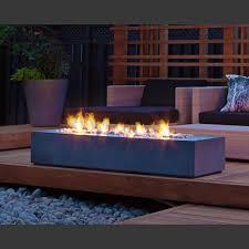 paloform robata modern rectangular concrete outdoor fire pit