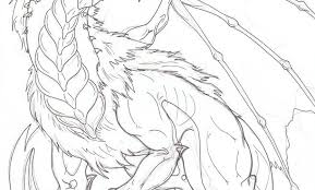 Mythical Dragon Coloring Pages For Adults Collection Free Books