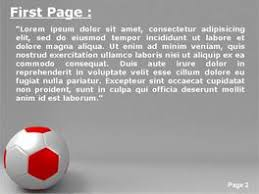 Soccer Ball Over Grey Background Powerpoint Template