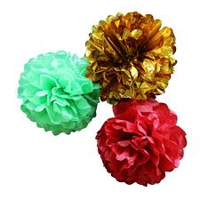 Party Decorations Tissue Paper Balls Aliexpress Buy Christmas Paper Decorations Holiday 58
