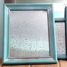 diy faux antiqued mirror no chemicals applepins com
