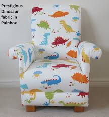 small child chair. Prestigious Dinosaur Fabric Child\u0027s Chair Paintbox Blue Nursery Kids Armchair T-Rex Bedroom Small Child T