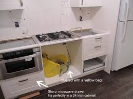 sharp 24 inch microwave drawer. which ikea cabinet for sharp microwave drawer | real world example of draw + 24 inch