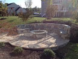 outdoor stone fire pit. Outdoor Stone Fire Pit Seating Wall Circular Paver Patio Ashburn Va