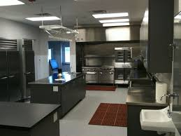 image restaurant kitchen lighting. FurnitureEye Catching Small Restaurant Kitchen Design With Cool Metal Chrome Cabinet And Stunning Island Complete Stainless Steel Image Lighting G