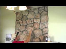 painted stone wallHow to mud on a faux stone and wood grain look Randy Miller  YouTube