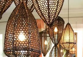 rattan chandelier