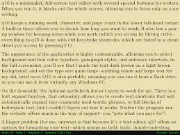 software for writers q the writer s technology companion q10 screenshot
