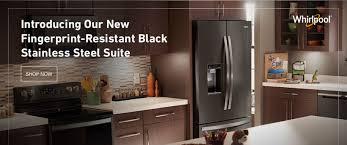 whirlpool black stainless steel appliances. Kitchen Appliance Shop Whirlpool At Lowe Appliances Parts More 74169 112217 Dt Bnr Inside Black Stainless Steel