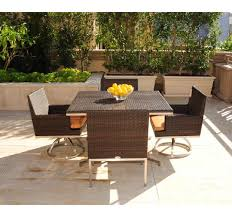 modern wicker patio furniture. Caluco Mirabella Wicker Swivel Rocker Dining Chair Modern Patio Furniture