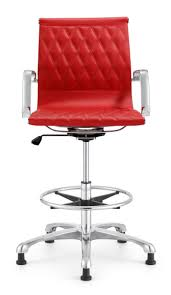 red crisscross chrome drafting stool  ambience doré