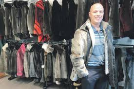 darren halloran wearing a man s all seal fur jacket at always in vogue