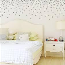 metallic silver or gold polka dots wall