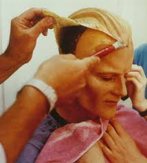 photo essay how make up and visual effects brought max headroom  max s hair is glued into place image courtesy of john humphreys johnhumphreyssculpture com
