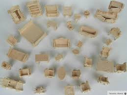 making doll furniture in wood. 34 pcs set diy doll house mini miniature furniture educational dollhouse toy 3d wood making in o
