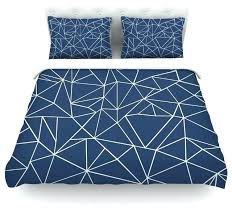 project m abstraction outline navy blue abstract duvet cover cotton queen contemporary navy king duvet cover