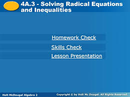 4a 3 solving radical equations and inequalities