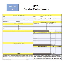 Hvac Invoice Templates Enchanting Hvac Quote Template Hvac Invoice Template 44 Download Documents In
