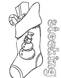 Download Coloring Pages. Christmas Stocking Color Page: Christmas ...